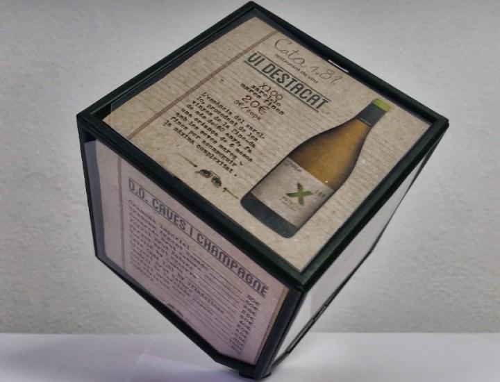 Carta 3D para restaurante Cata 181