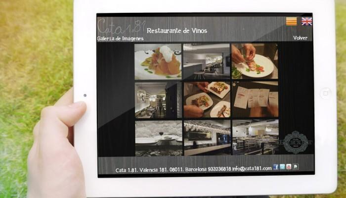 carta restaurante iPad