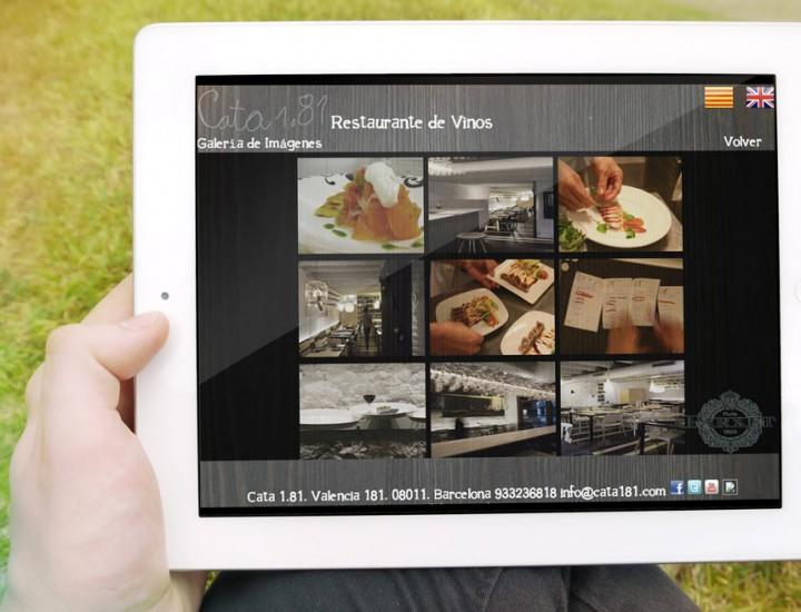 Nueva web + Carta interactiva iPad para Restaurante Cata 181