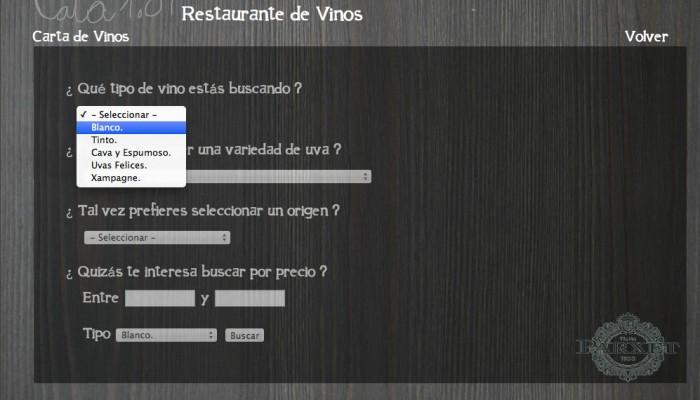 web para restaurante